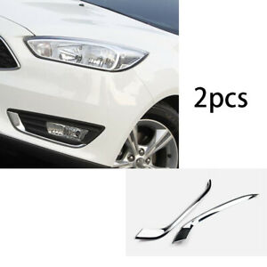 For Ford Focus St Rs 2015 2018 Abs Chrome Front Fog Light Lamp Strip Trim 2x