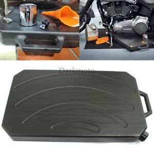 Black Collecting Tank Low Profile Oil Drain Pan Spout For Heritage Classic Flhc