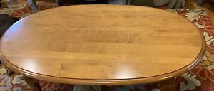 Ethan Allen Coffee Table Oval Maple Birch10 8031 In Excellent Con Vtg