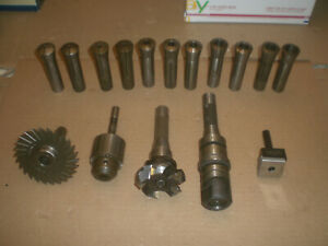 R8 Tooling Set Collets Drill Chuck Slitting Arbor Boring Head More