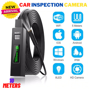 Endoscope Hd Inspection Camera Wifi Borescope Wireless 8led 10m Android Iphone