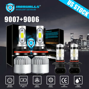 4x Combo Led Headlight Fog Bulb For Dodge Ram 1500 2500 3500 2002 2003 2004 2005