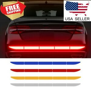 Car Warn Strip Tape Bumper Safety Stickers Decals Paster Reflective Accessories