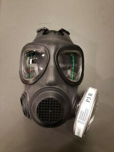 Full Face Reusable A4 Air Filtration gas Mask With Nbc Particle Filter