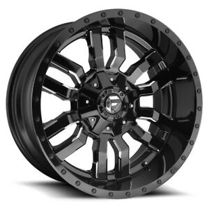 5 Fuel D595 Sledge 17x9 5x4 5 5x5 12mm Black Milled Wheels Rims 17 Inch Jk Jl