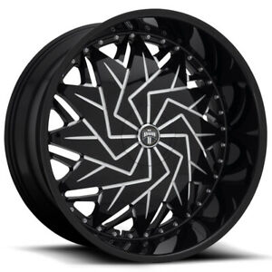 4 dub S231 Dazr 26x9 5x4 5 5x120 25mm Black milled Wheels Rims 26 Inch