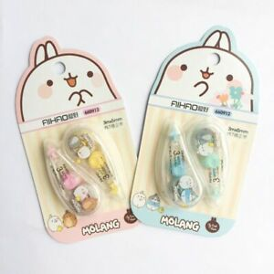 Kawaii White Out Cute Stationery Office School Supplies Correction Tape Art 2pcs
