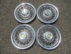 Factory 1978 To 1987 Chevy Monte Carlo 14 Inch Wire Spoke Hubcaps Wheel Covers