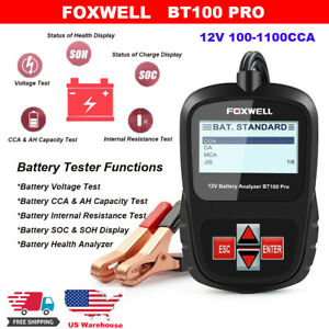 Car Battery Tester Scanner Tool Digital Charging Cranking Analyzer 12v 1100cca