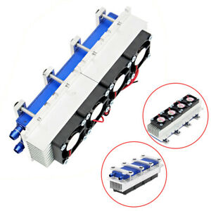 12v 4 Chip Diy Thermoelectric Peltier Cooler Water Cooling Kit For Semiconductor