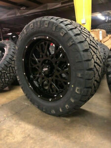 20x9 Vision Rocker Black Wheel 33 Nitto Ridge Tires 8x170 Ford Excursion F250