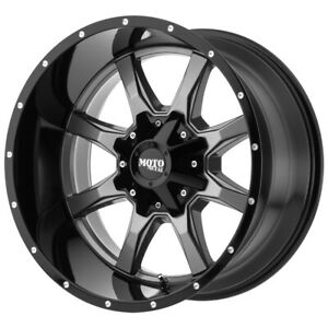 4 Moto Metal Mo970 17x9 8x6 5 12mm Gunmetal Black Wheels Rims 17 Inch