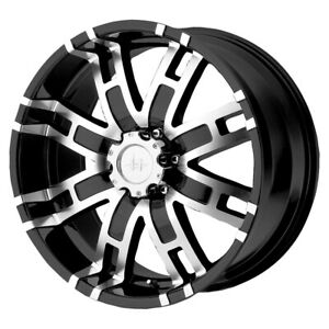 4 Helo He835 17x8 8x170 0mm Black Machined Wheels Rims 17 Inch