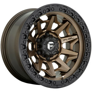 Fuel D696 Covert 17x9 8x6 5 1mm Bronze Wheel Rim 17 Inch