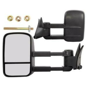 Textured Black Pair Of Mirrors Fit 1988 00 Chevy K3500 Truck Upgrade Manual