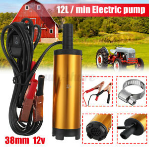 12v 38mm Golden Electric Submersible Pump Pumping Oil Water Fuel Transfer Tool