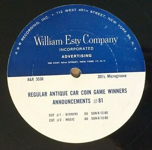 Sunoco 10 Radio Commercials Jingles Regular Antique Car Coin Game Winners G