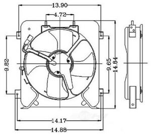 Engine Cooling Fan Assembly Fits 1996 1998 Honda Civic Global Parts
