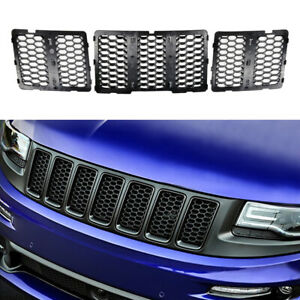 Matte Black Honeycomb Grille Grill Insert Kit For 2014 2016 Jeep Grand Cherokee