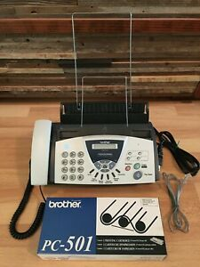 Brother Fax 575 Plain Paper Fax Phone Copier New Printing Cartridge Free Ship