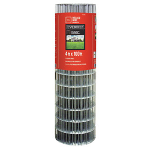 4 X 100 Everbilt 14 Gauge Galvanized Steel Welded Wire Mesh Fence Fencing Roll