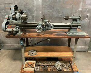 South Bend Precision Lathe Model A 9 X 30 Lot Of Tooling 115 Volt Vintage