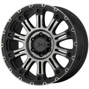 4 xd Series Xd829 Hoss 2 17x9 5x5 12mm Black grey Wheels Rims 17 Inch