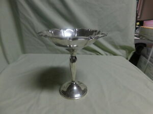 Vintage Sterling Silver Weighted Compote