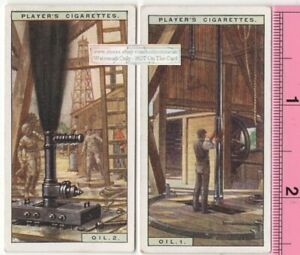 Petrolium Oil Well Drilling Two 85 Y o Ad Trade Cards