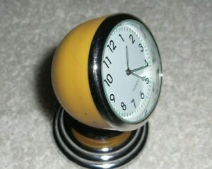 Original Vtg Style Chevy Ford Vw Split Window Yellow Dash Magnet Clock 50s 60s