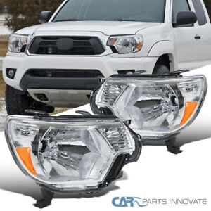 For 12 15 Toyota Tacoma Replacement Clear Headlights Headlamps Pickup Left Right