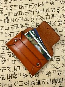 Leather Credit Card Holder Business Cards Case Id Usa Seller