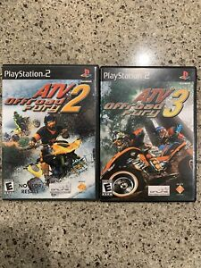 ATV Offroad Fury 2 and 3 game Lot Sony PlayStation 2 PS2