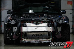 Ams Alpha Race Front Mount Intercooler With Logo For 2012 14 Nissan Gt R