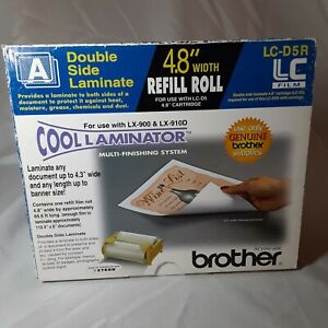Brother Lc d5r Cool Laminator 4 8 Refill Roll Film Double Side Laminate Nib Fst