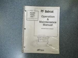 Bobcat Hand Tool Rac Remote Attachment Control Operation Maintenance Manual 22p