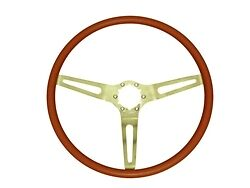 1969 1970 Chevelle El Camino 3 Spoke Cushion Grip Steering Wheel Red