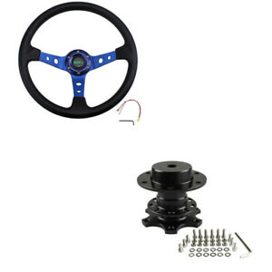 13 5 Steering Wheel With Quick Release Adapter For Racing Modified Car Us