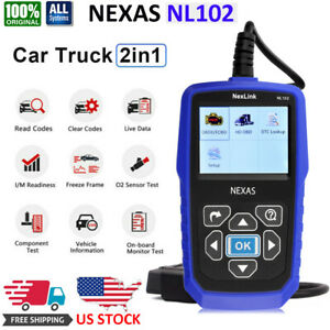 Universal Heavy Duty Diesel Truck Car Diagnostic Scanner Tool Obd2 Code Reader