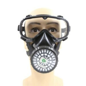 Full Face Respirator Gas Goggles Chemical Double Filter Breathing