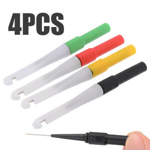 4pcs 4 Colors 0 7mm Piercing Needle Probe Pin Test Probes Mini Wire Piercer As