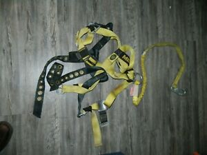 Miller Aerial Lift Fall Protection Safety Harness W 5ft Shock Lanyard 650 44
