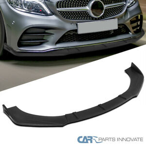 For Universal Matte Black Front Bumper Lip Spoiler Splitter Body Kits 3pc Style