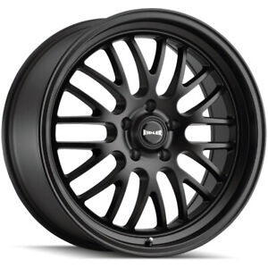 Staggered Ridler 607 Front 22x9 Rear 22x10 5 5x115 20mm Matte Black Wheels Rims
