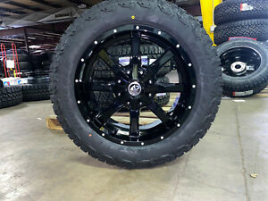 20x9 A2 Offroad Gloss Black Wheels Rims 32 At Tires 6x135 Ford F150 Expedition