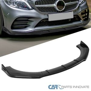 For Universal Glossy Black Front Bumper Lip Spoiler Splitter Body Kits 3pc Style