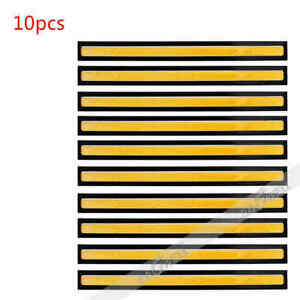 10 Pcs Cob Yellow Led Waterproof Daytime Running Light Backup Interior Strip 12v