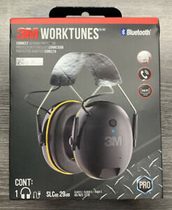 3m Worktunes Connect Hearing Protector Muffs With Bluetooth Brand New In Box