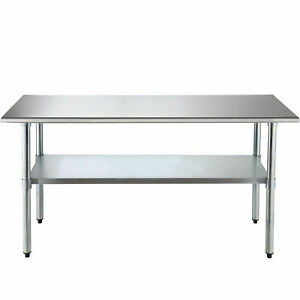 Commercial Stainless Steel 30 x72 Food Prep Work Table Kitchen Restaurant New