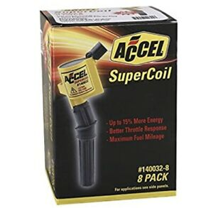 New Accel 140032 8 Supercoil Direct Ignition Coil Set Free Shipping